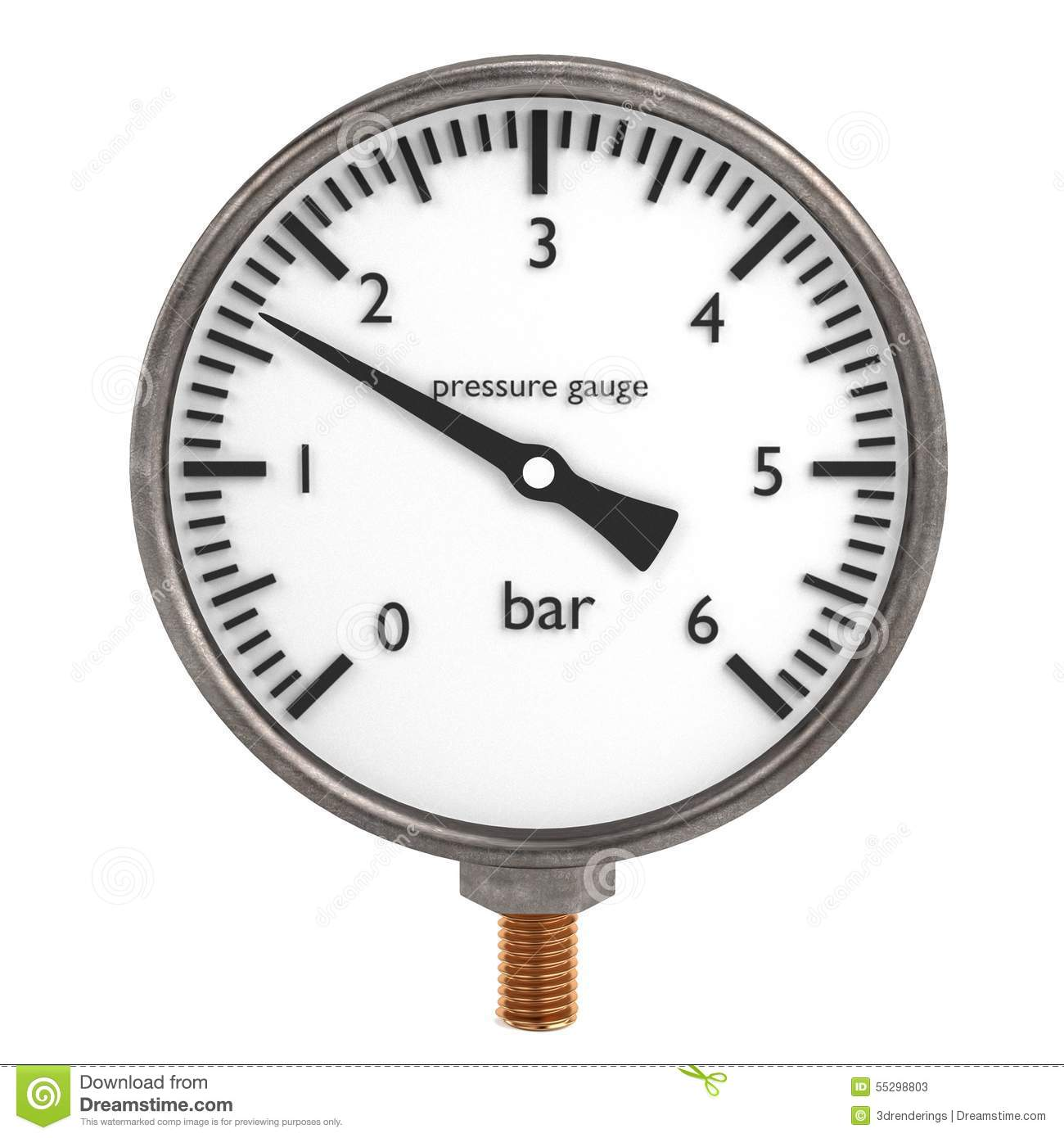 Pressure Gauge Stock Illustration
