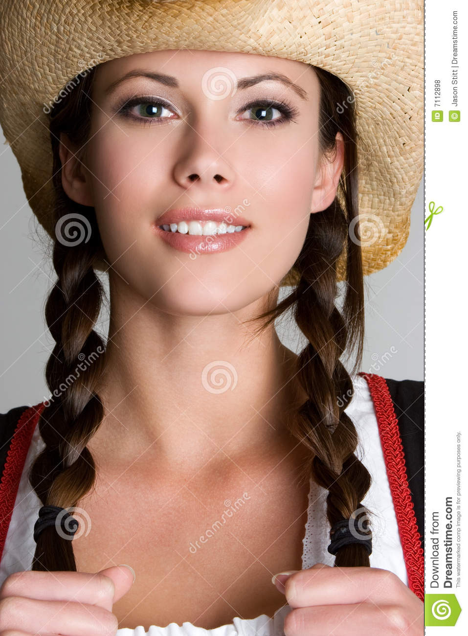 Beautiful Girl Wearing Hat Wallpaper Pretty Cowgirl Stock Photo Image Of Woman Attractive