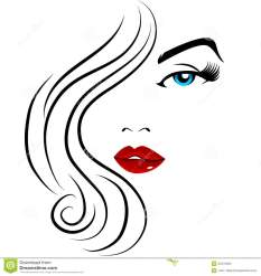 clipart face pretty clip makeup beauty ragazza joli vector mooi silhouette gesicht huebsch acconciature jolie visage fille faccia carino sexy