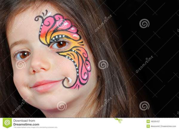 Face Painting Cartoons Illustrations & Vector Stock - 21092