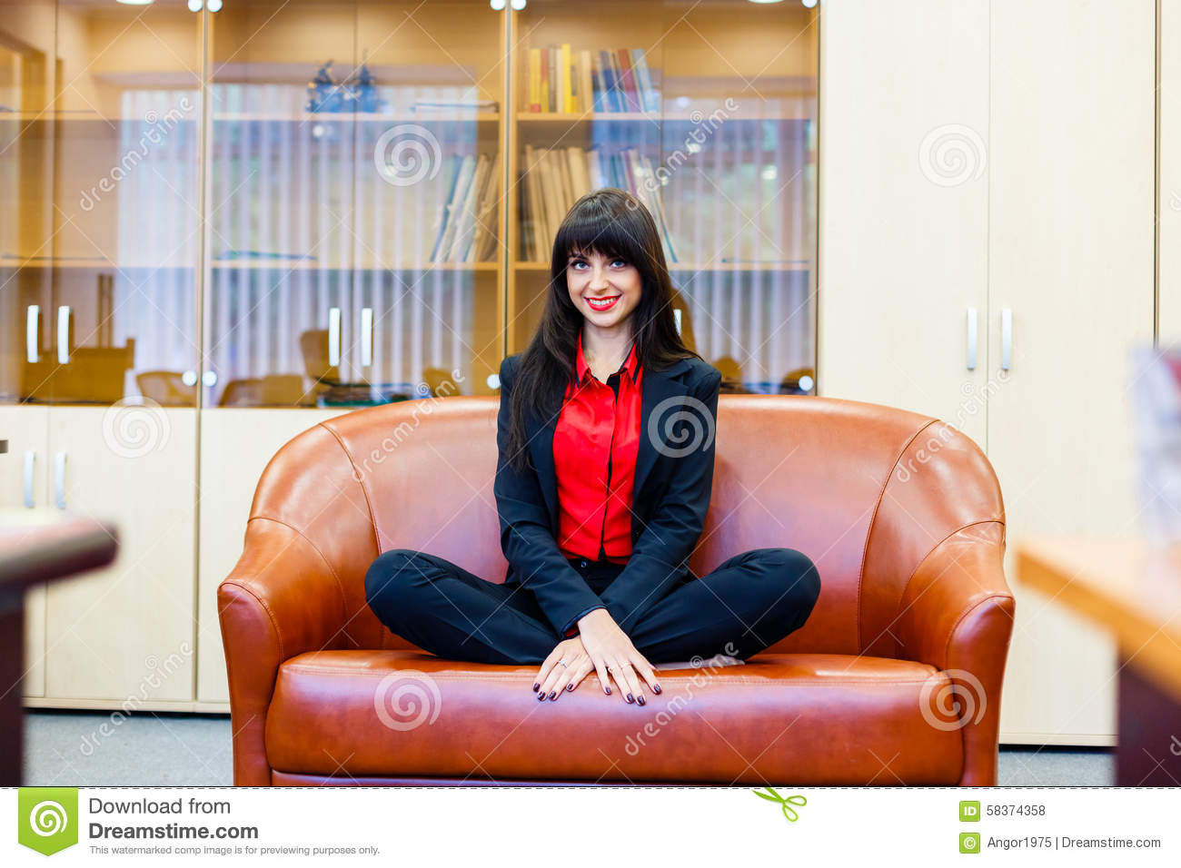 sitting pretty sofas sofa cama costa rica usados smiling girl on in the lotus position