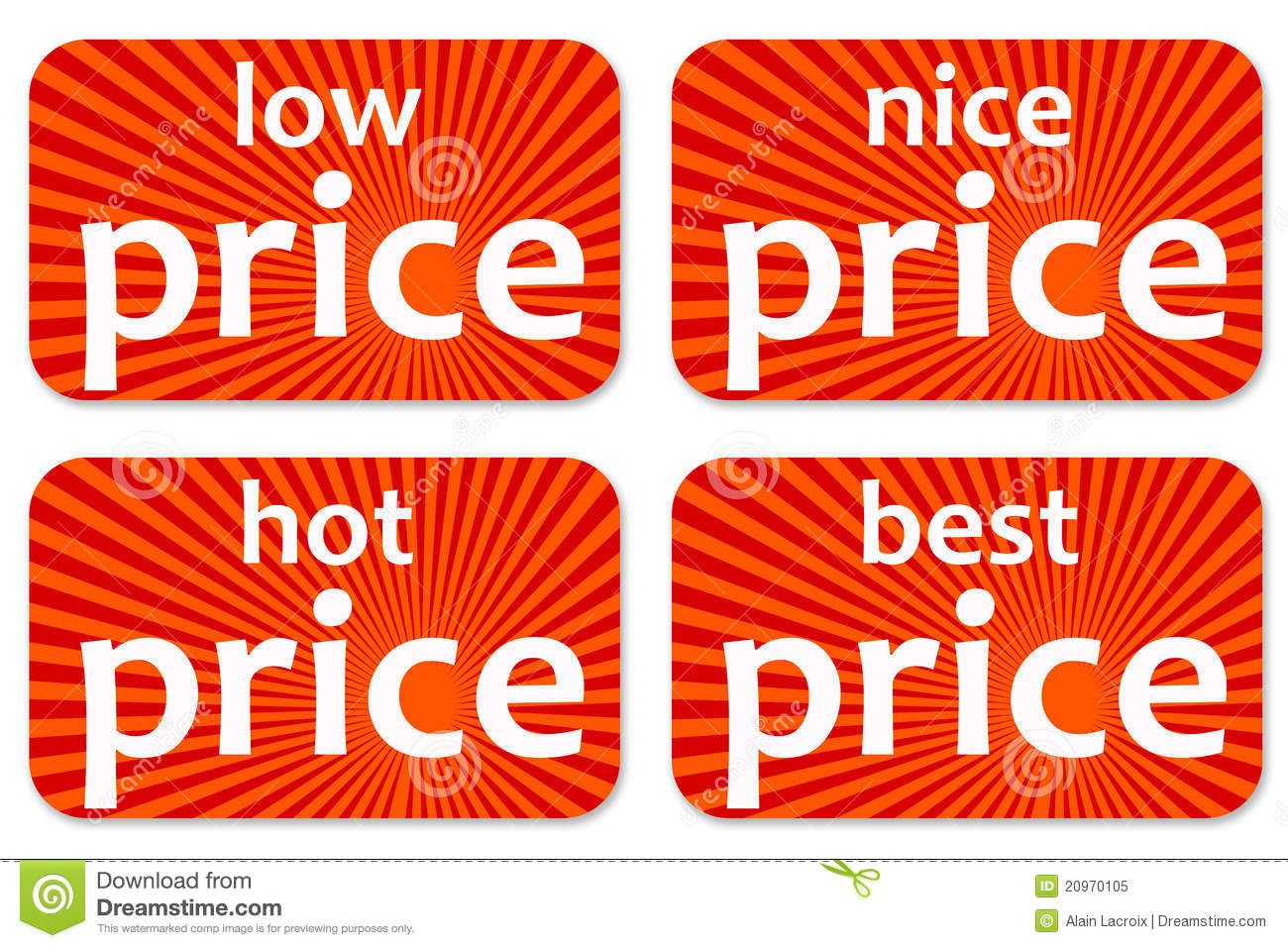 Prices Stock Illustration Image Of Discount, Button