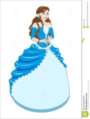princess brunette in blue