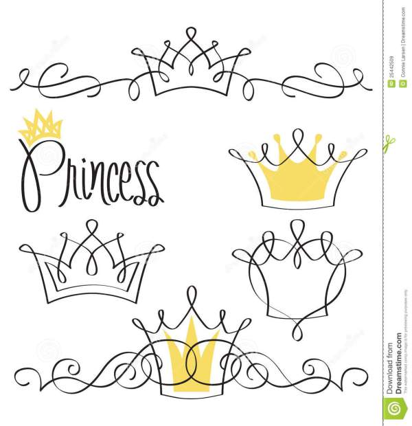 20 Princess Crown Tattoos Line Drawings Ideas And Designs