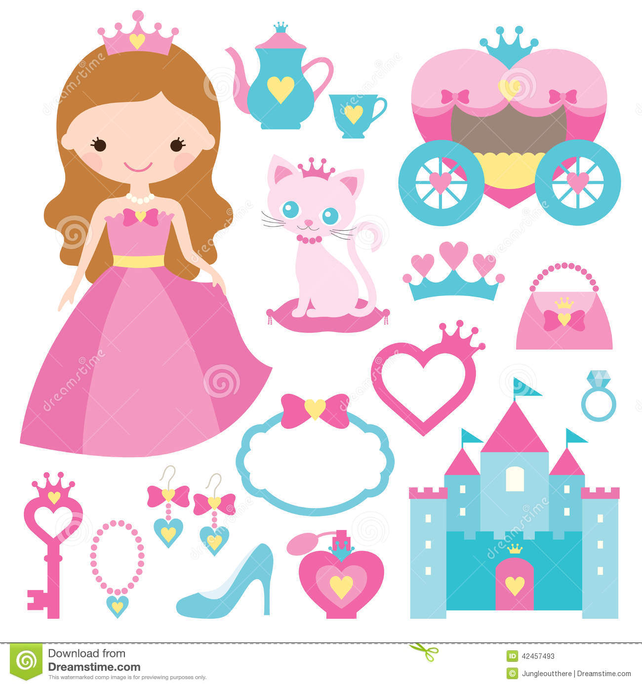 Princess Design Elements Stock Vector Image 42457493