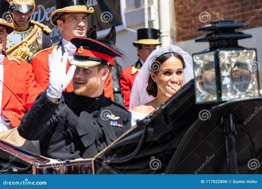 Prins Harry En Meghan Markle-huwelijk Redactionele Foto ...