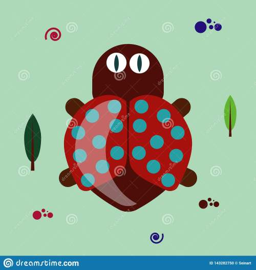 small resolution of colorful funny flat bug clipart on green background