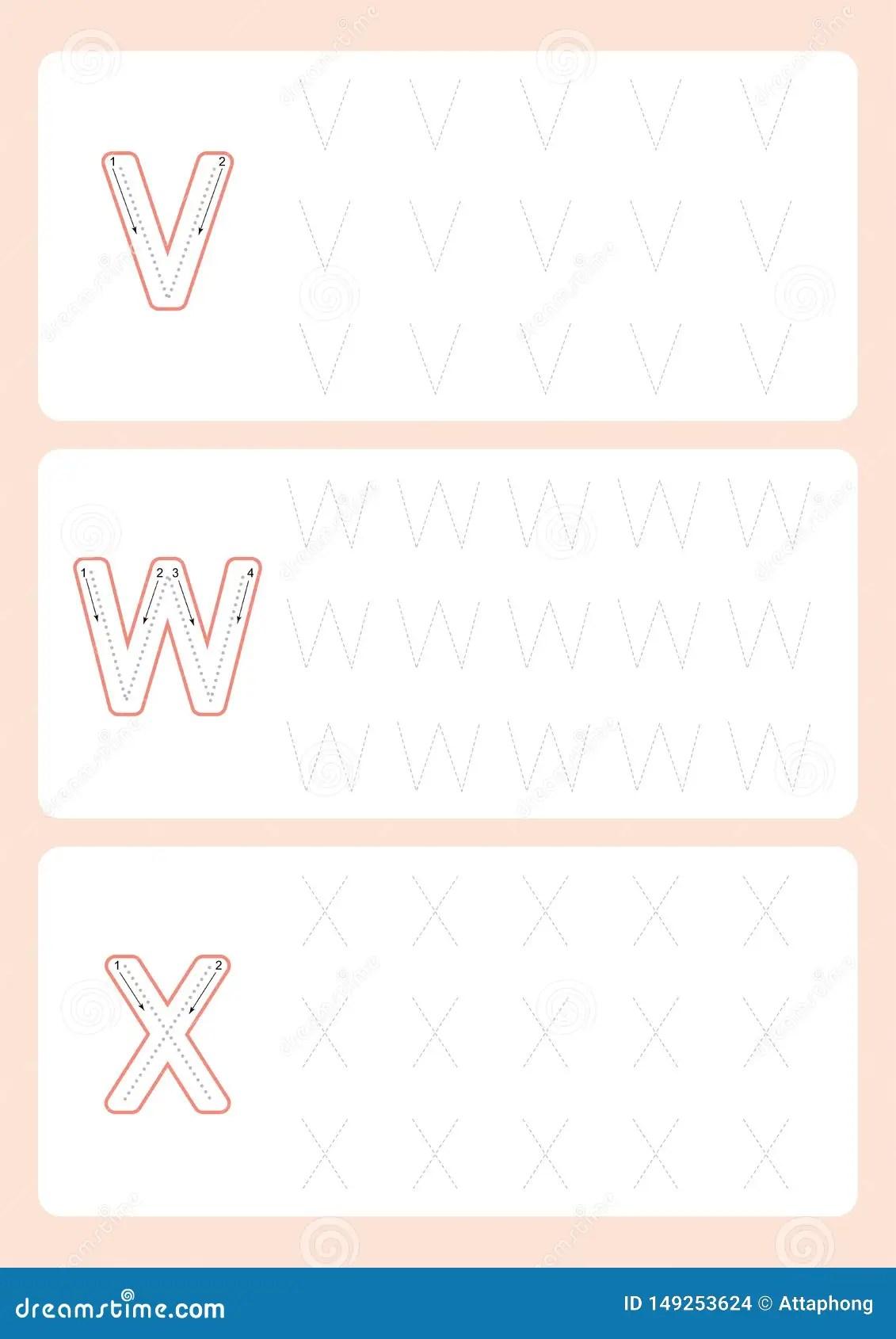 Kindergarten Tracing Letters Worksheets Alphabet Trace