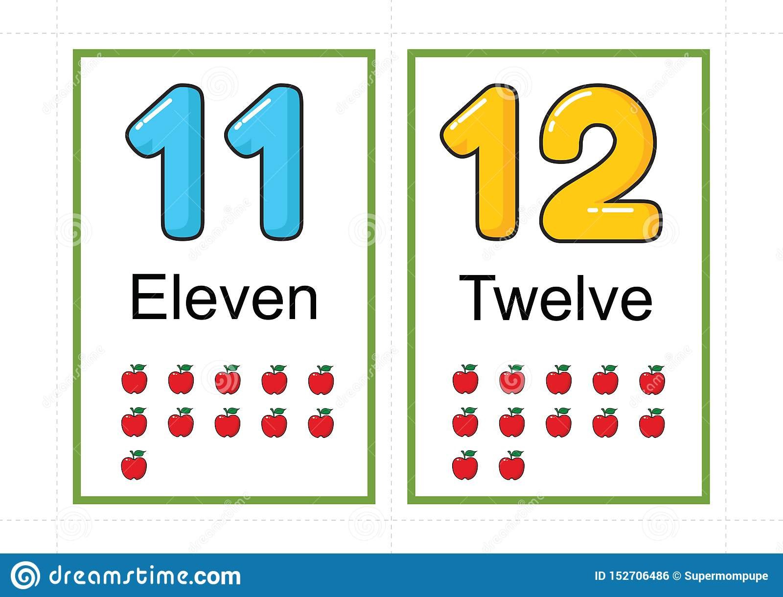 Printable Number Flashcards For Teaching Number Flashcards