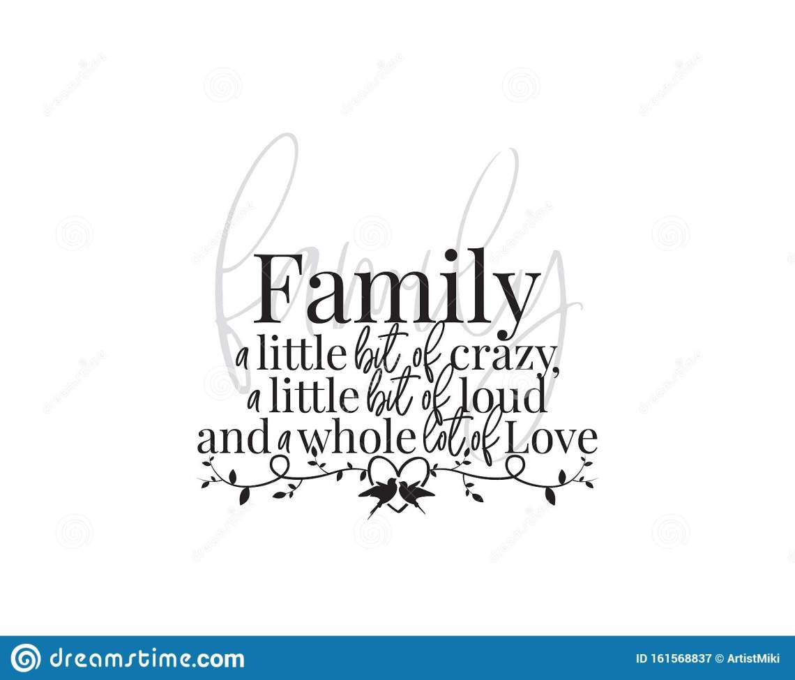 Download Family Wording Design, Vector. Family A Little Bit Of ...