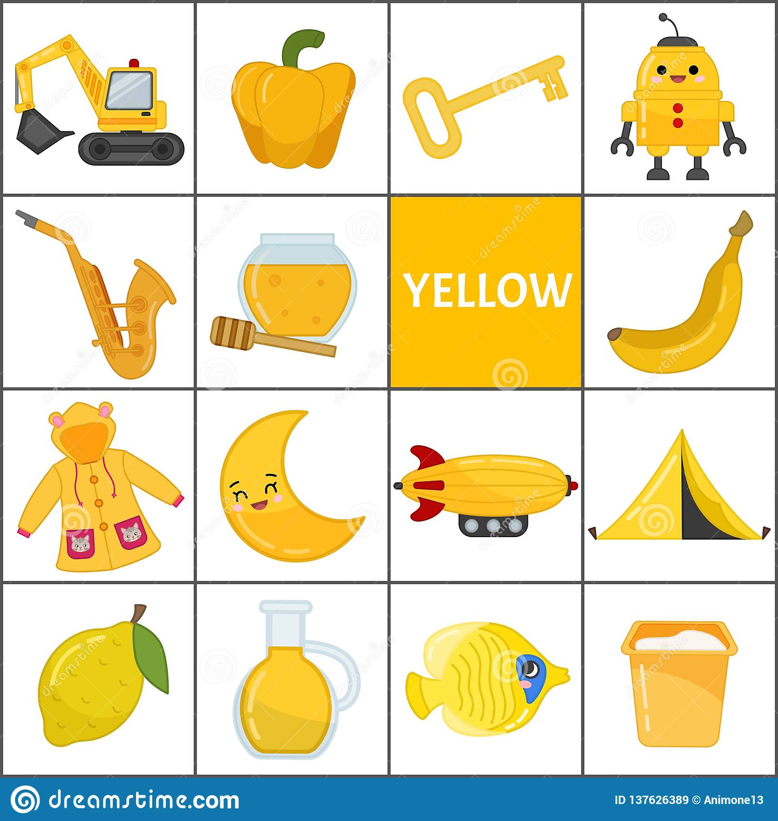 Kids Learning Material Stock Vector Illustration Of Icon