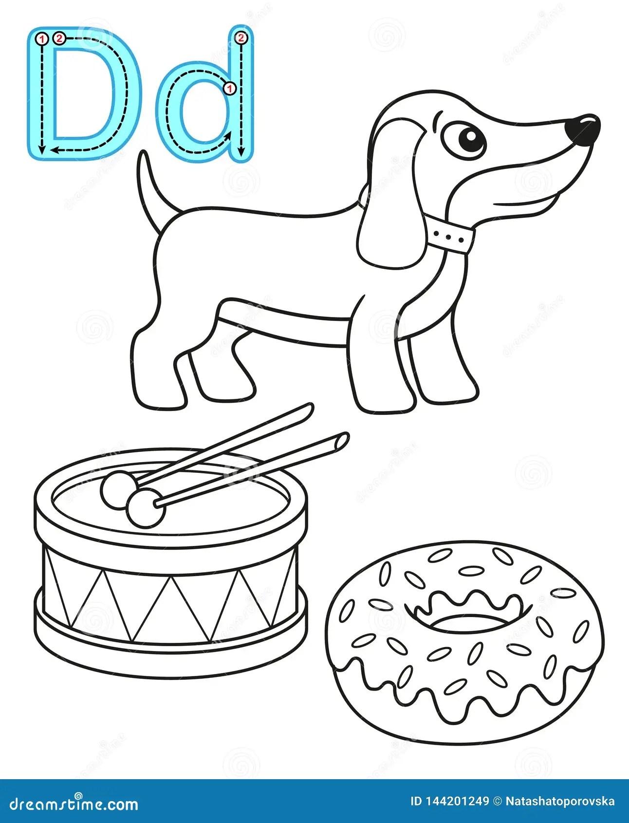 Letter D Dog Stock Illustrations 3 436 Letter D Dog