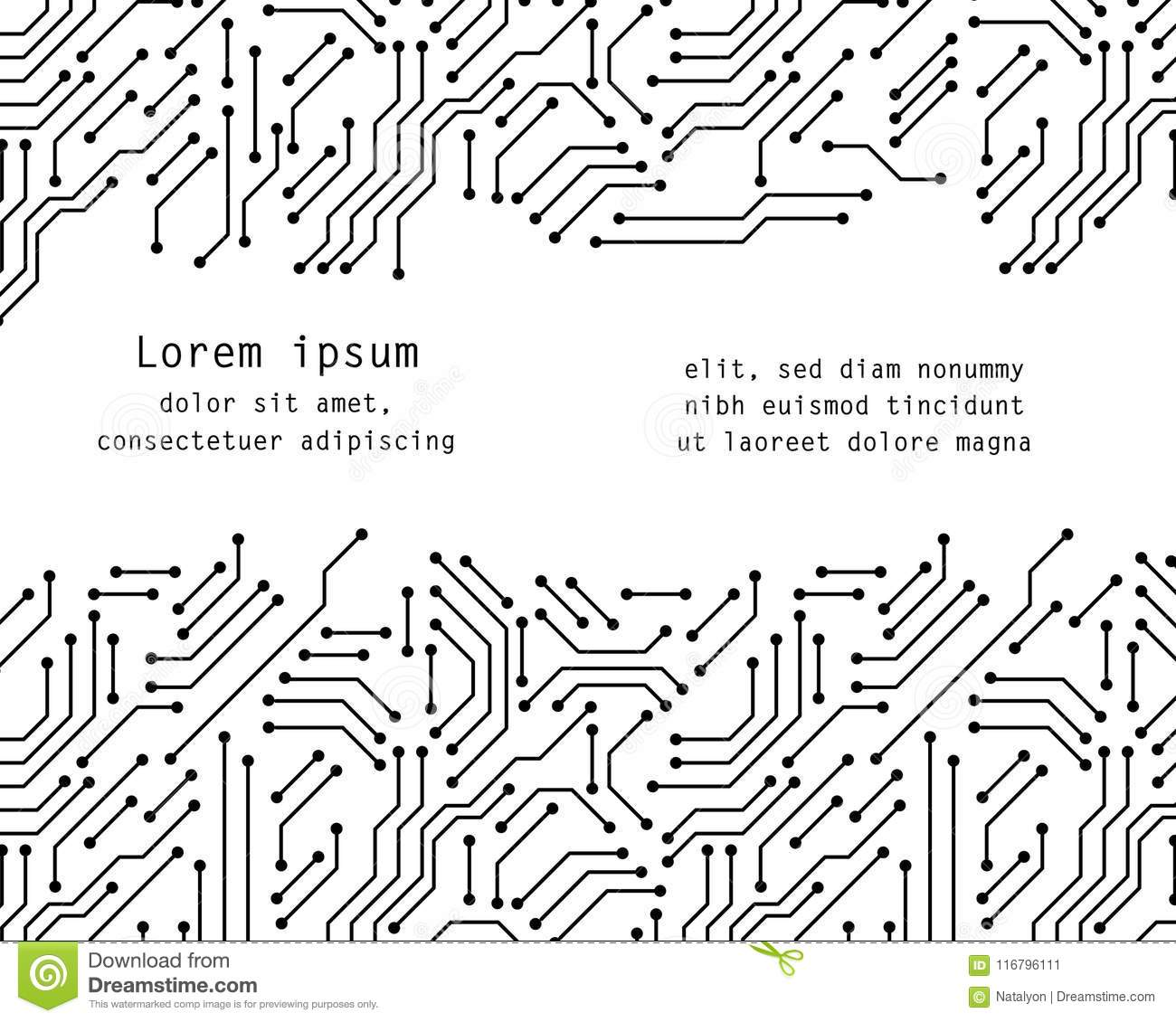 Printed Circuit Board Black And White Computer Technology