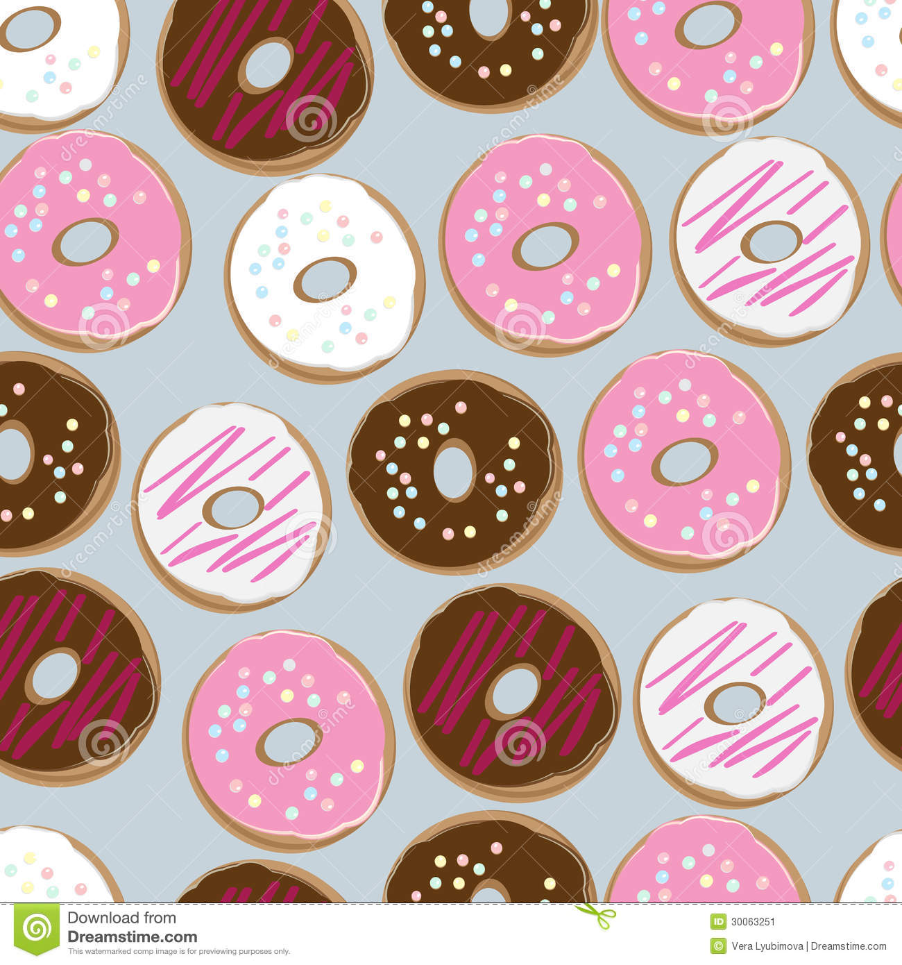 Fall Wallpaper Pintrest Seamless Background Of Assorted Doughnuts Stock Image