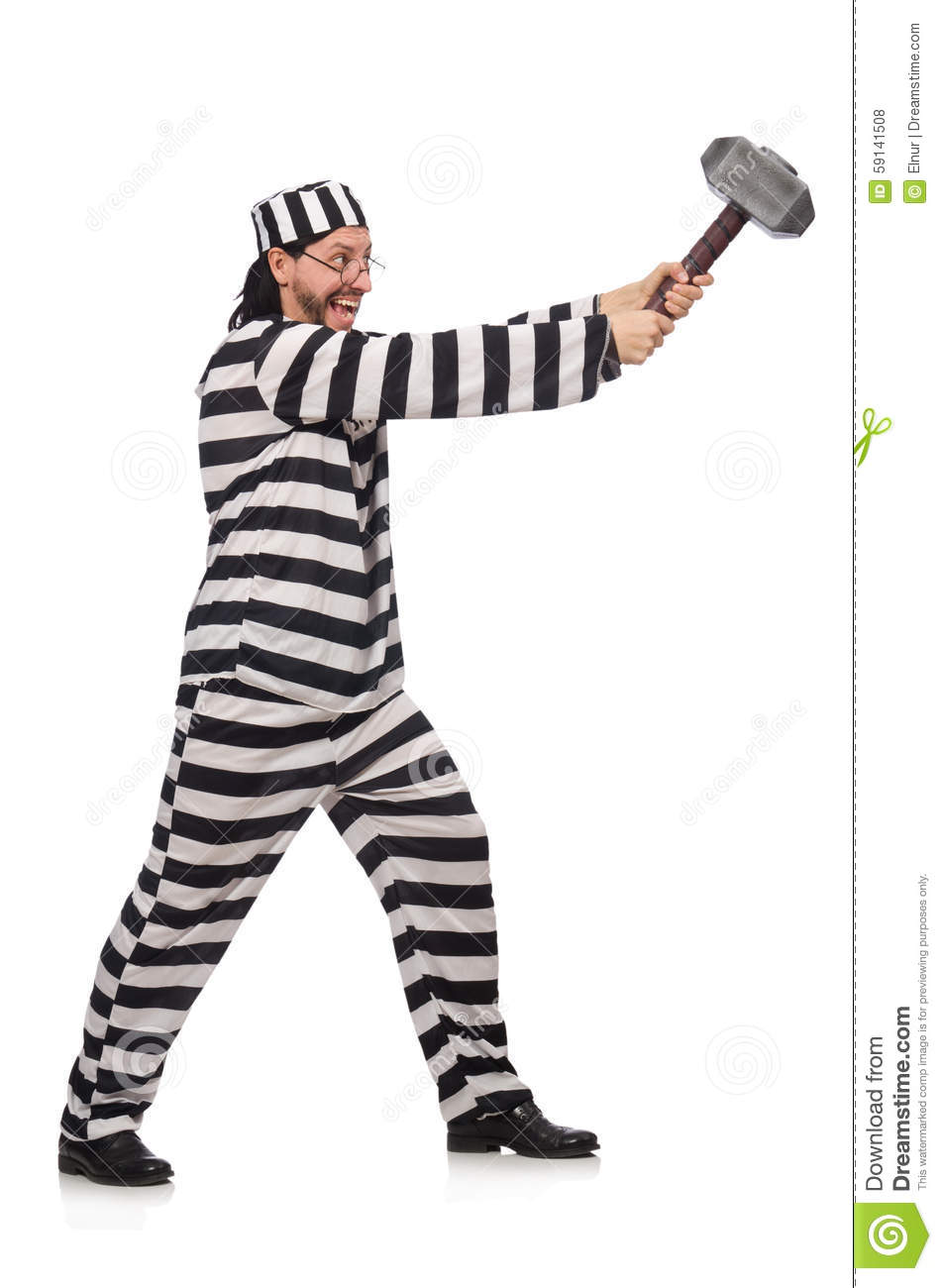 Prison Inmate Isolated Royalty-Free Stock Image