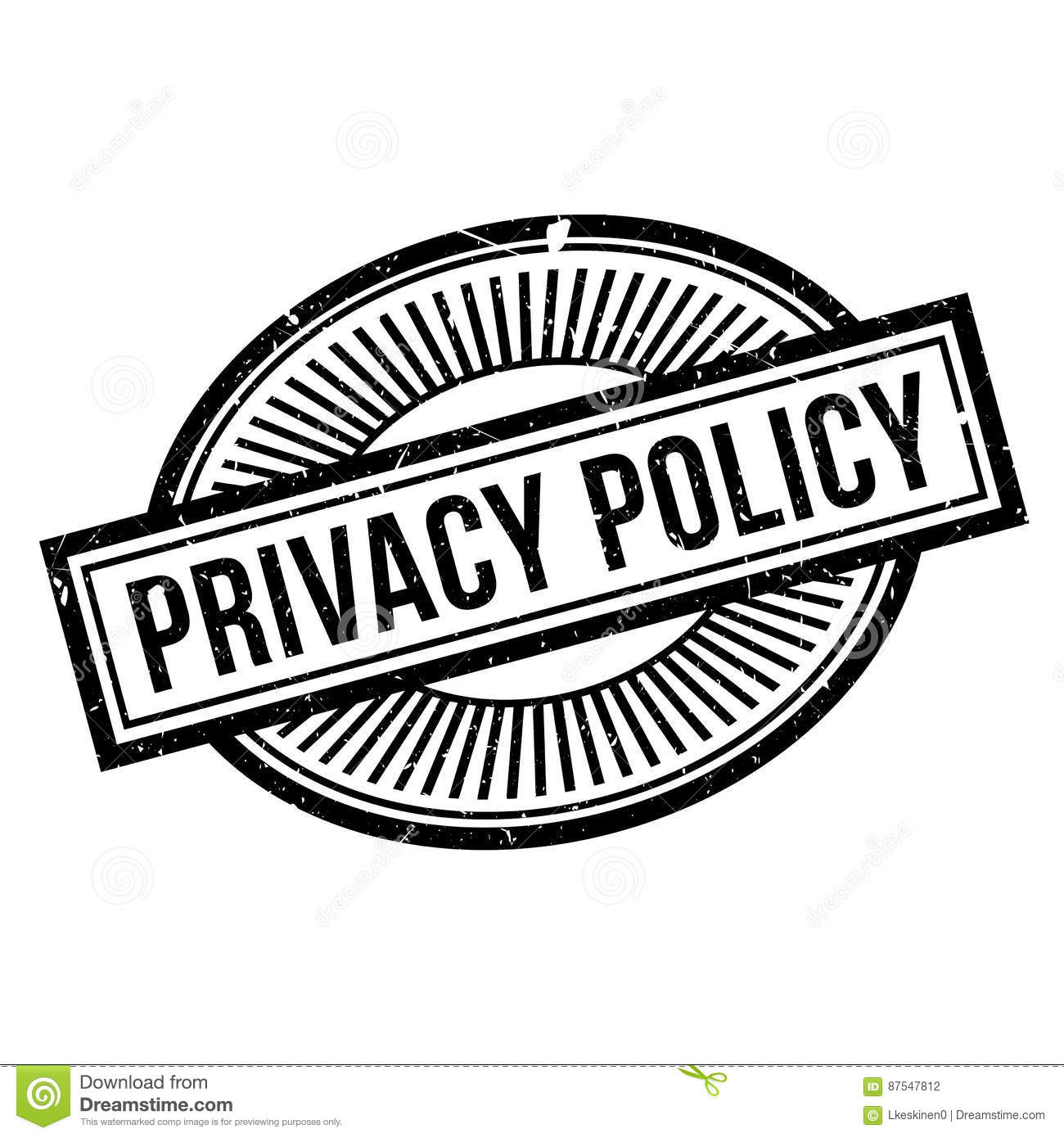 Privacy Policy Rubber Stamp Stock Vector