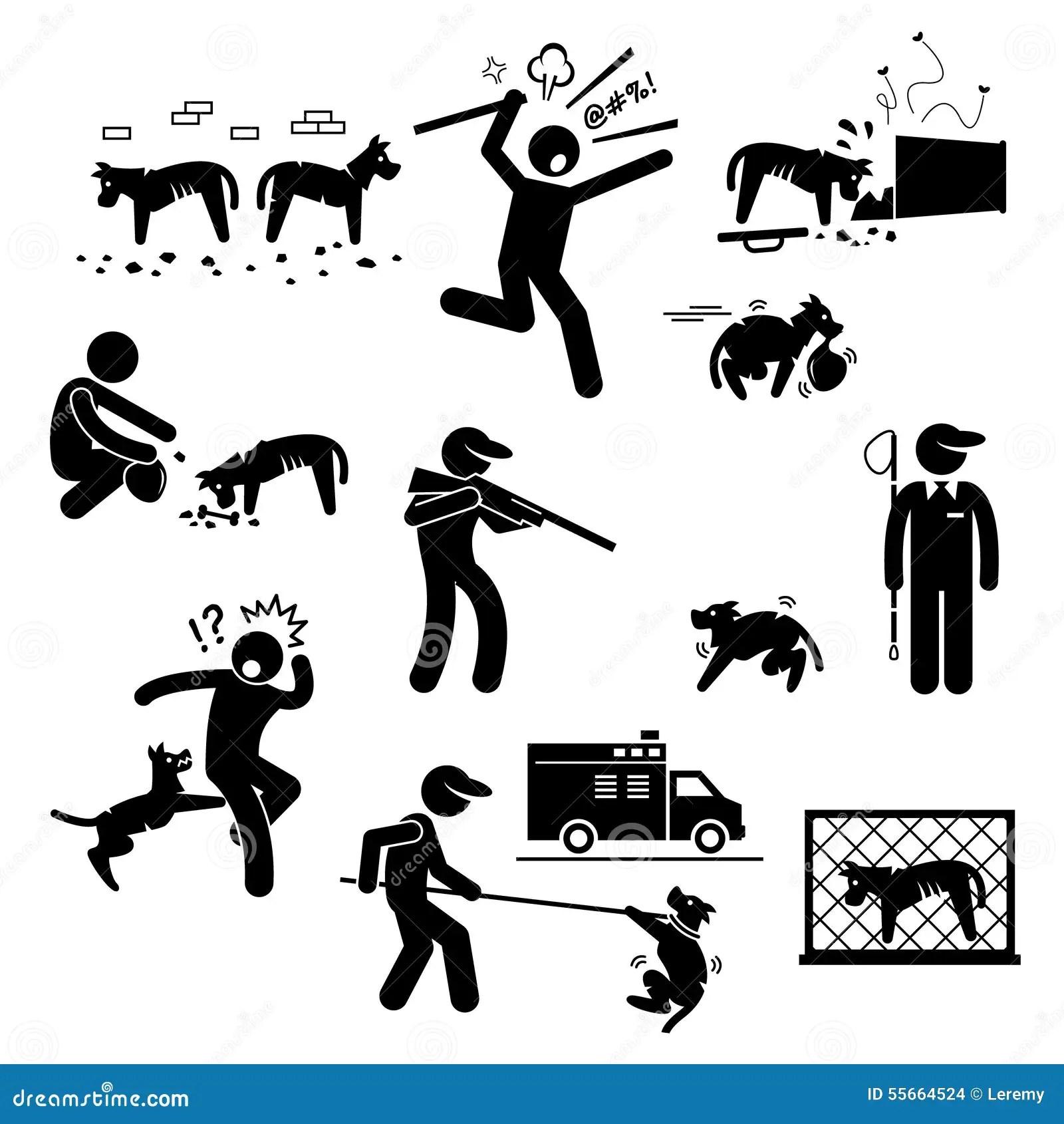 Problem Frage Clipart Des Streunenden Hundes Vektor