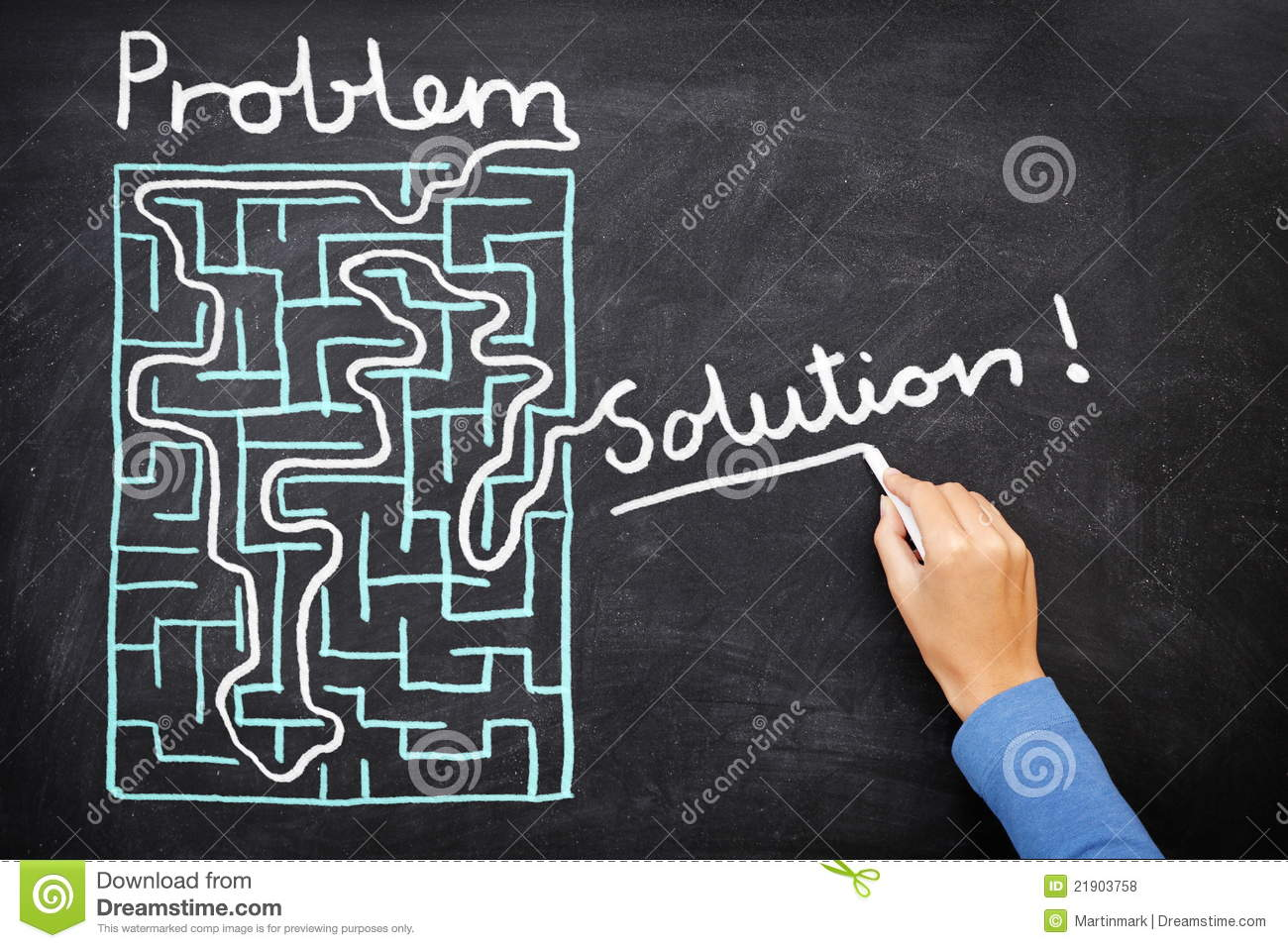 Problem And Solution  Solving Maze Stock Photo  Image of