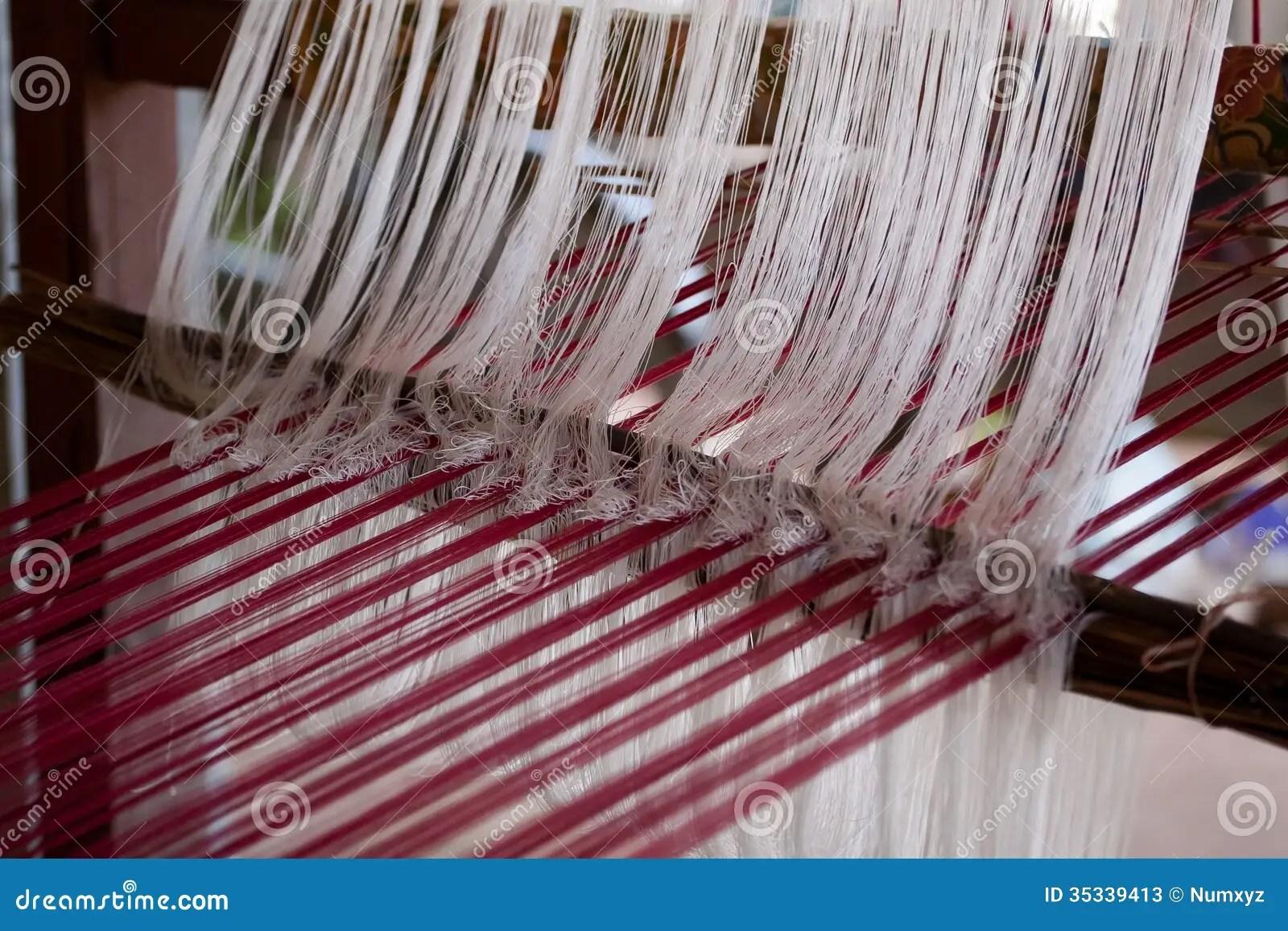 Process Of Weaving Thai Silk Stock Image  Image 35339413