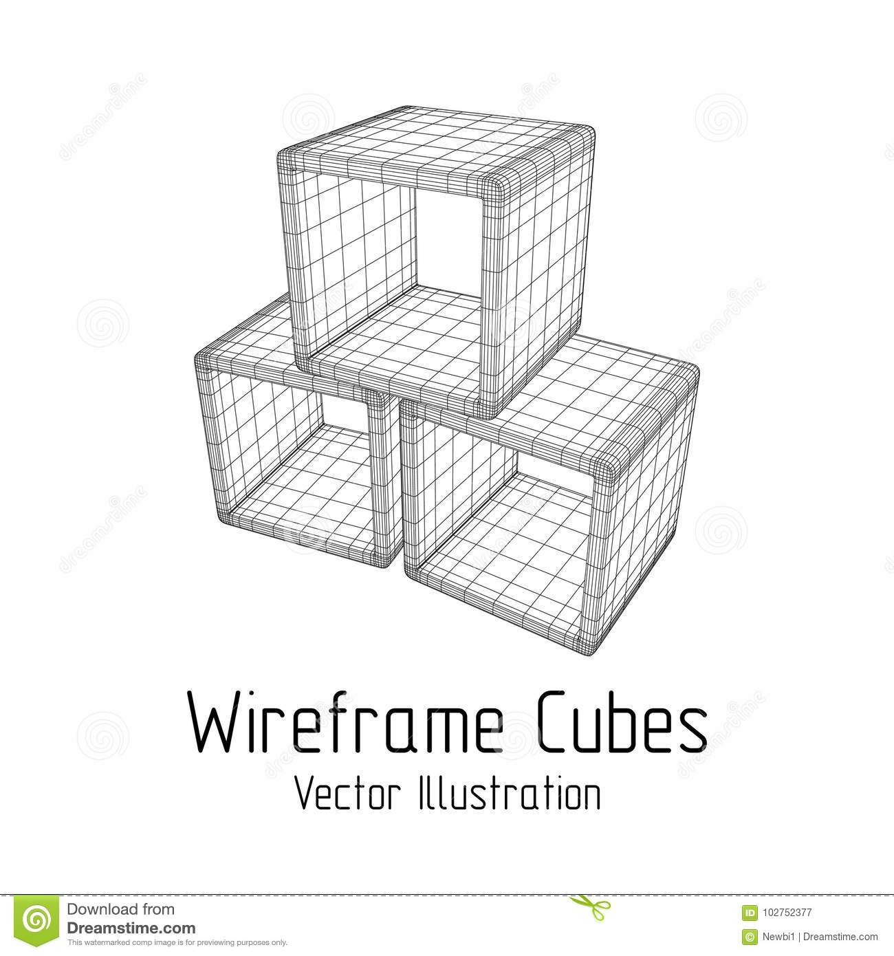 Product display boxes 3D. stock vector. Illustration of