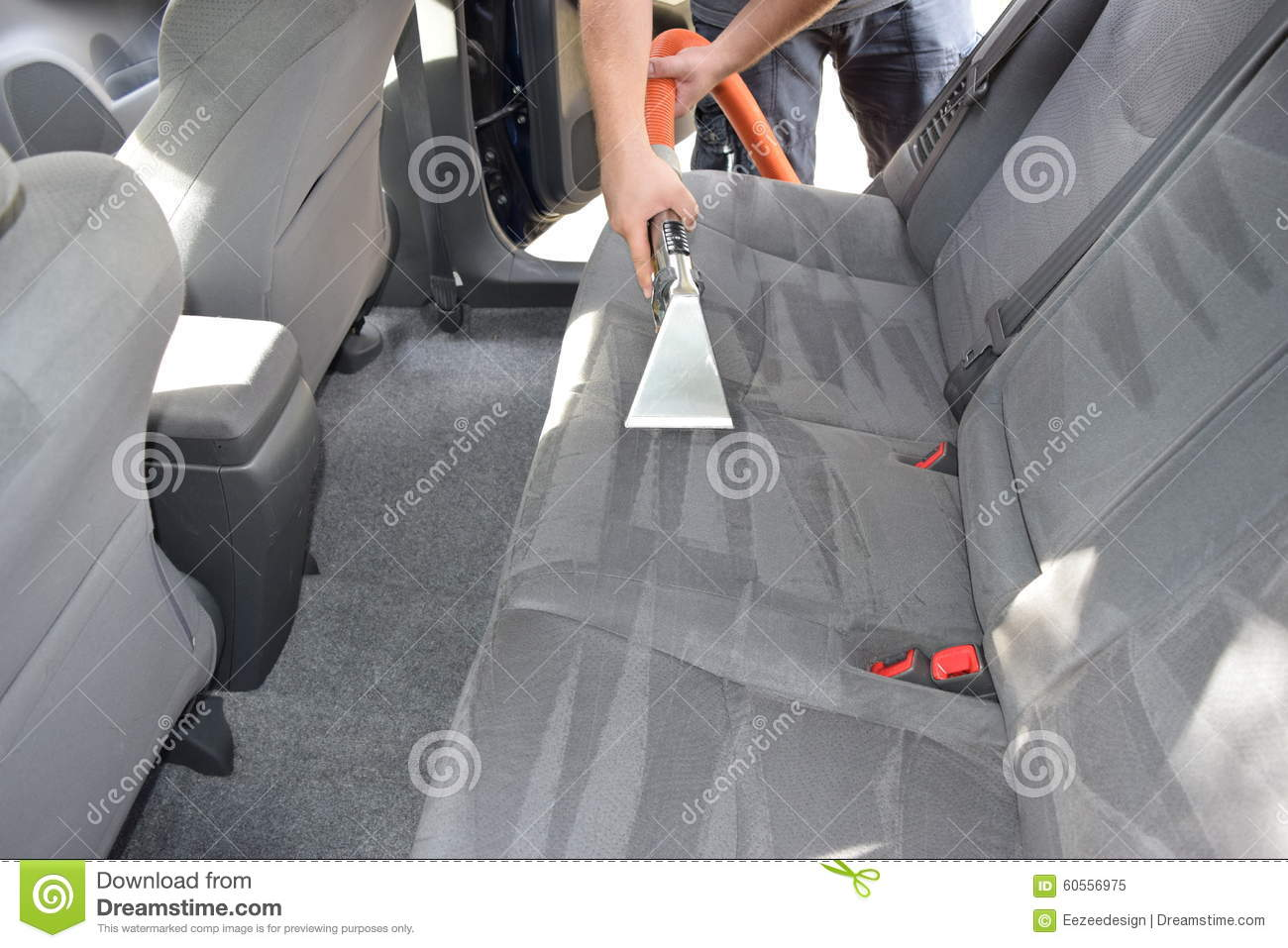 Professional Auto Detailing And Upholstery Cleaning Stock