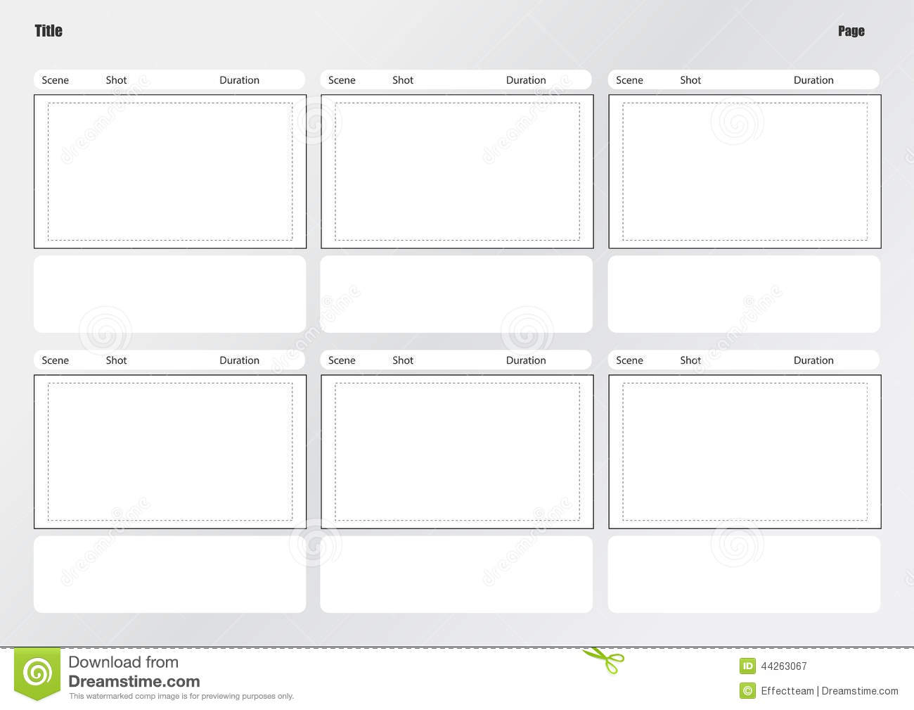 Professional Of Film Storyboard Template Stock