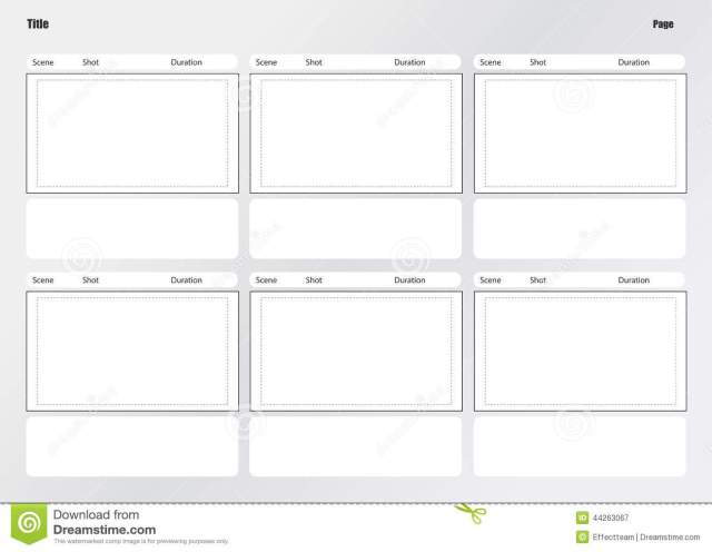 Movie Storyboard Template  Free Download