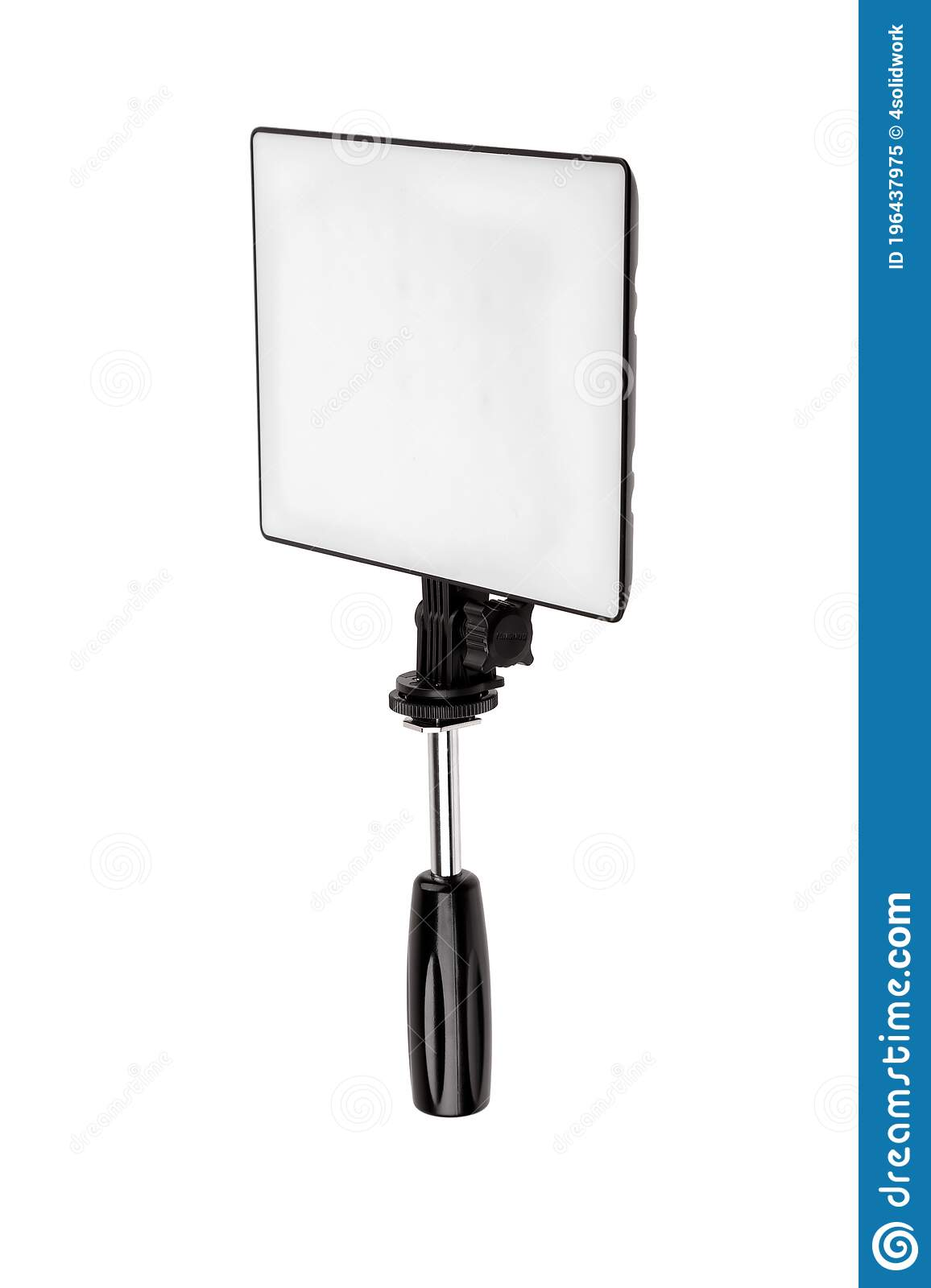 professional lighting equipment for video production isolated on white portable video light for filming video and video blogging stock image image of device camera 196437975