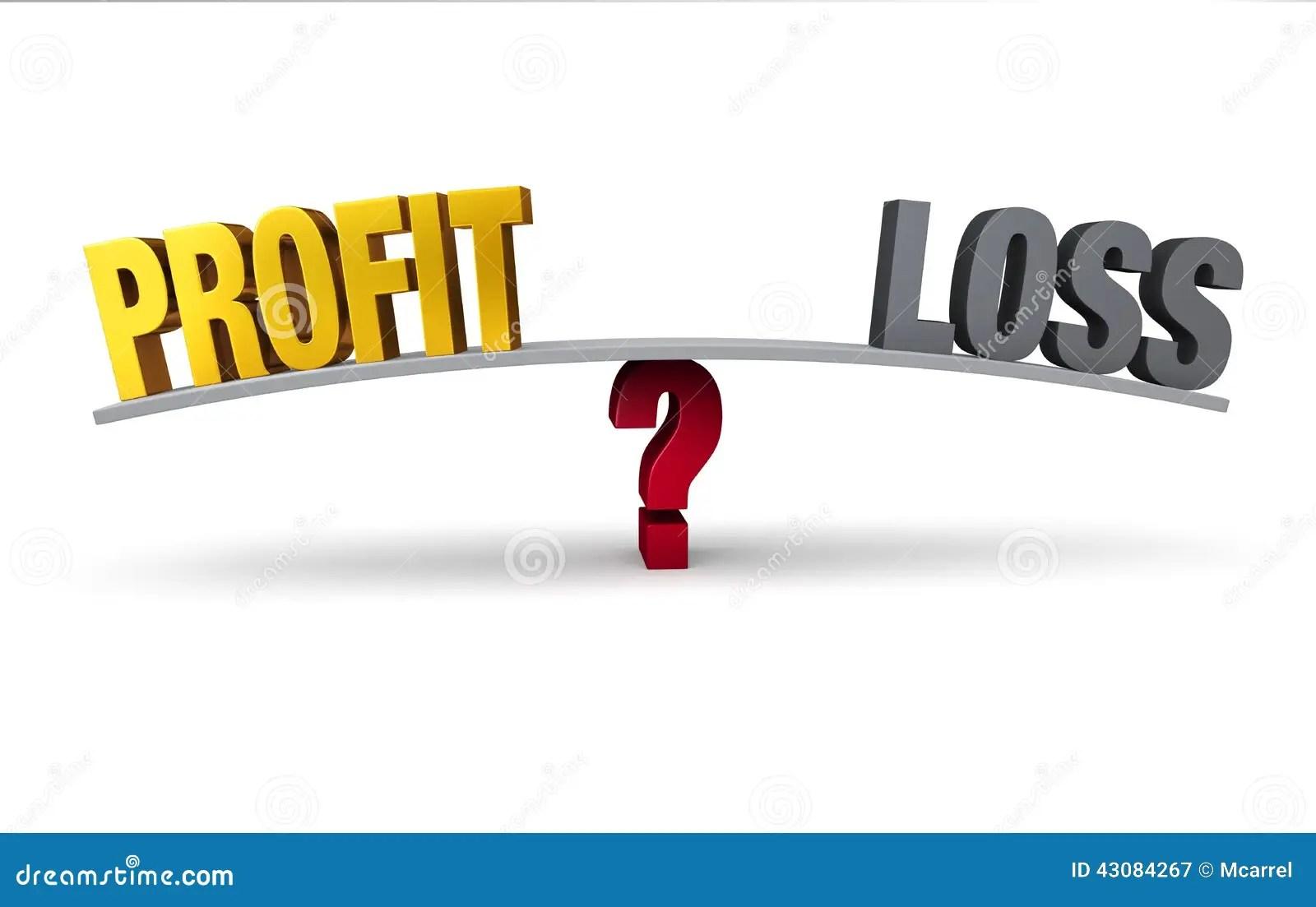 Profit Or Loss? stock illustration. Illustration of balance - 43084267