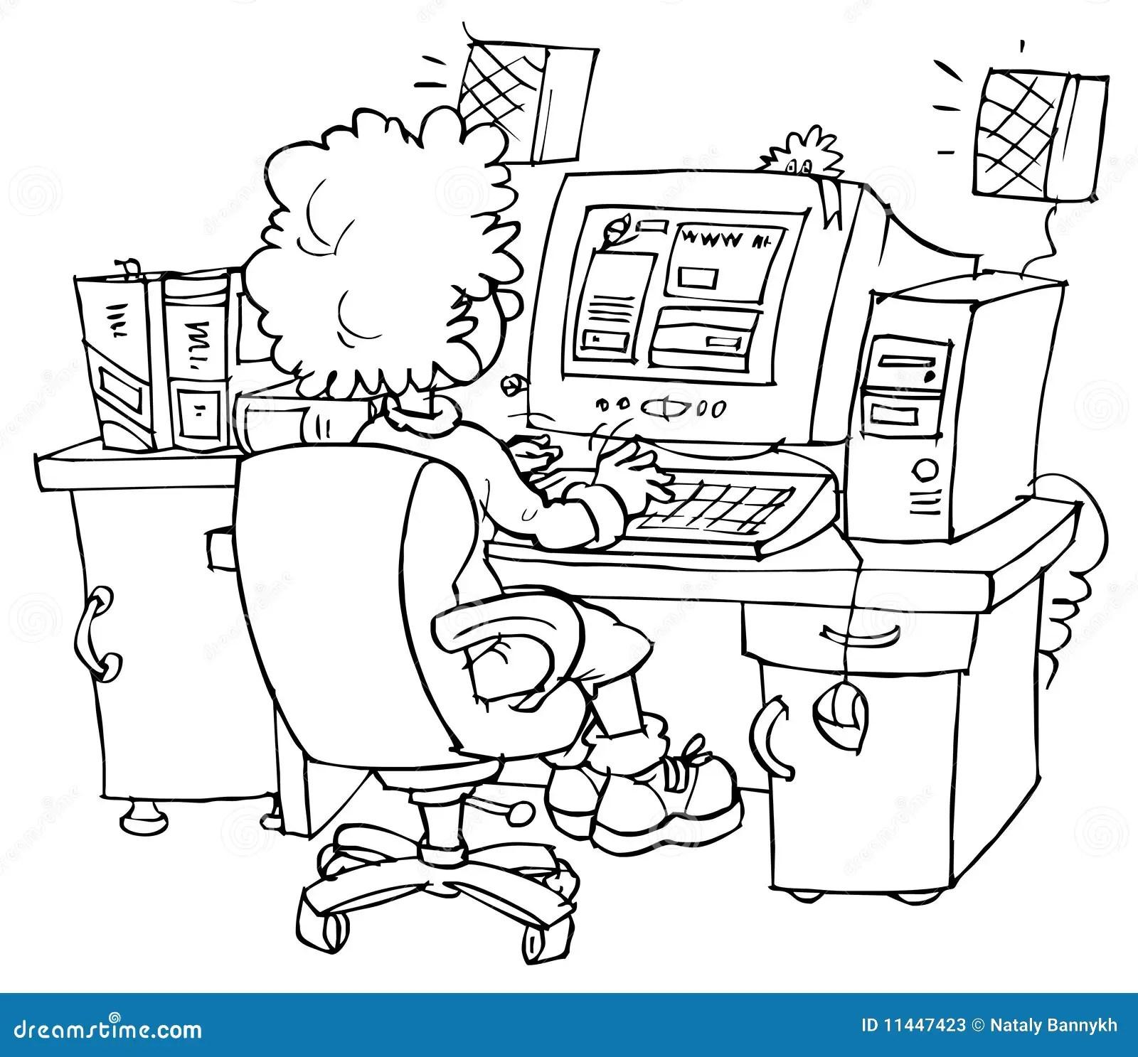 Malvorlage Büro