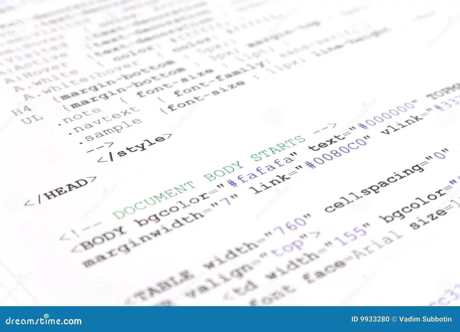 Programming Html Code Stock Photo Image Of Java Market