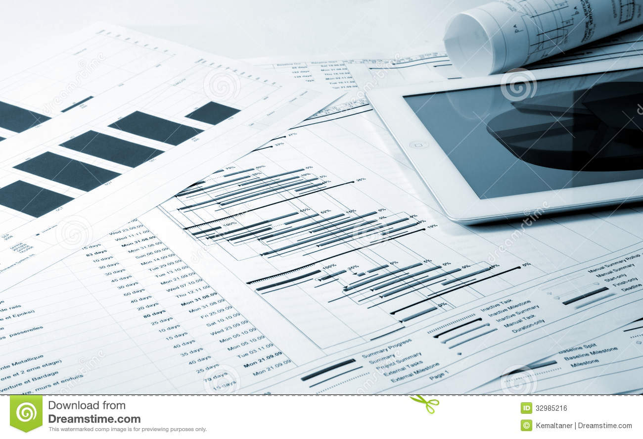 Project management stock photo Image of gantt industry