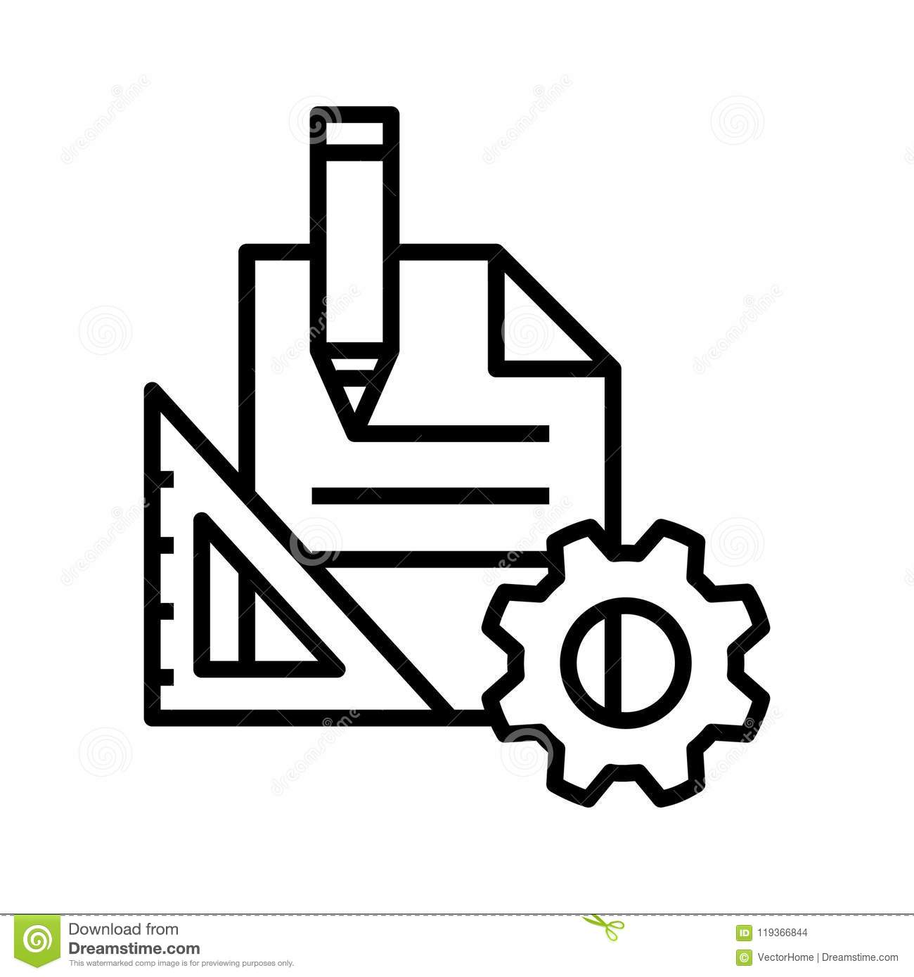 Project Management Icon, Vector Illustration Stock Vector