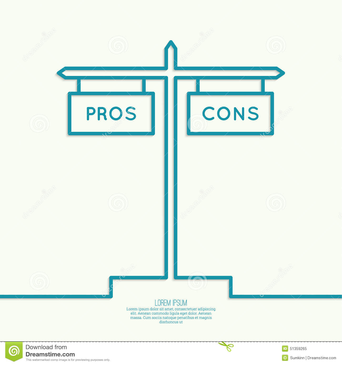 Pros And Cons List Stock Vector Illustration Of Concepts