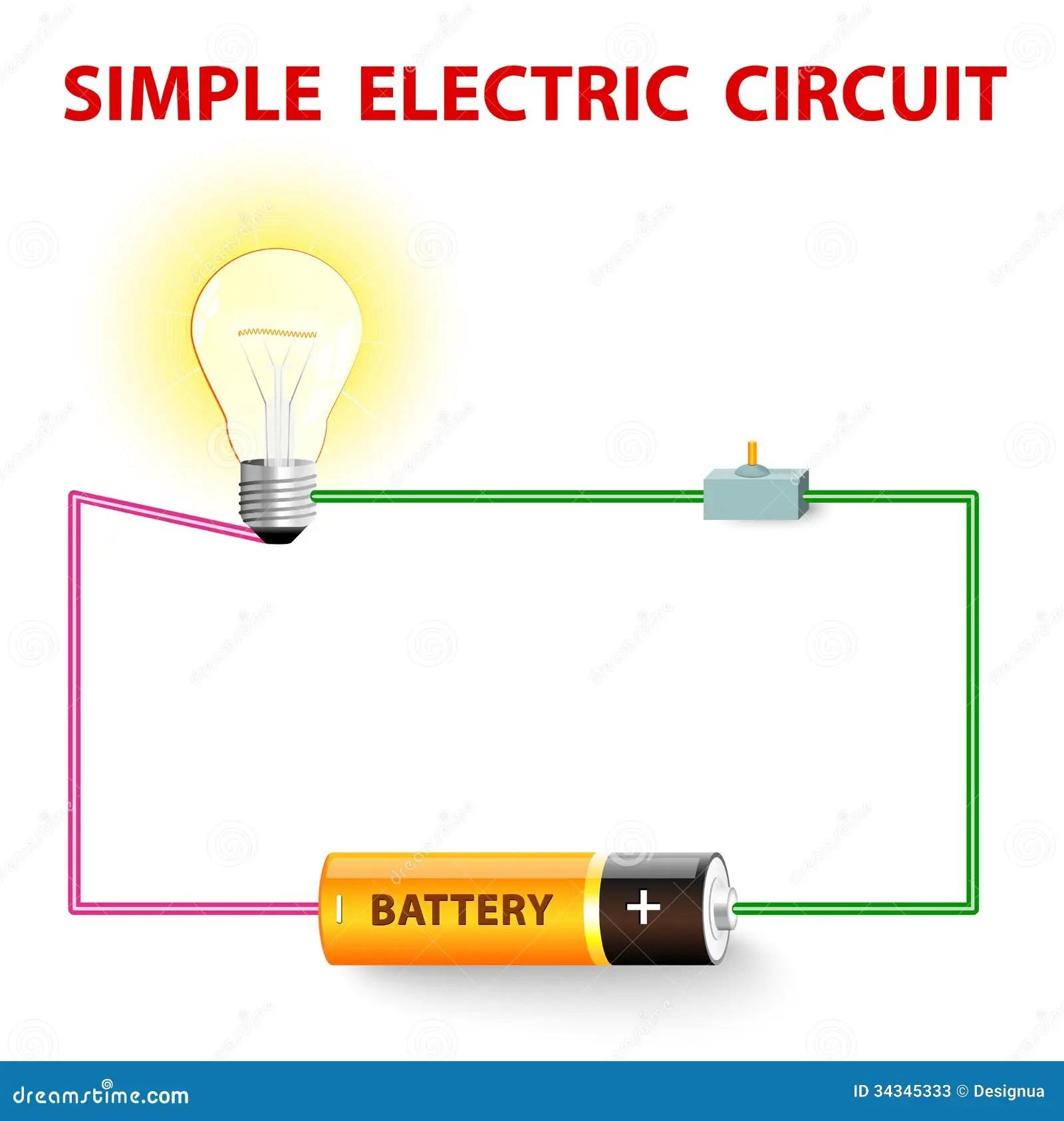 Prosty Elektryczny Obwod Ilustracja Wektor Ilustracja