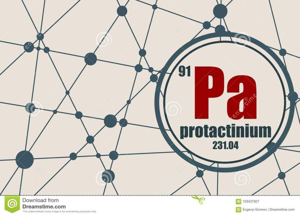 medium resolution of protactinium chemical element sign with atomic number and atomic weight chemical element of periodic table molecule and communication background
