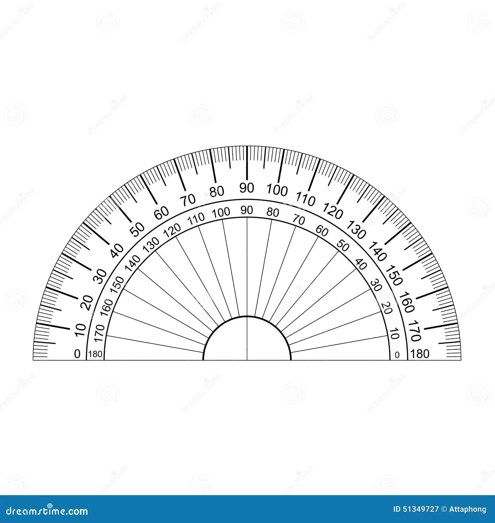 Protractor Vector Stock Vector