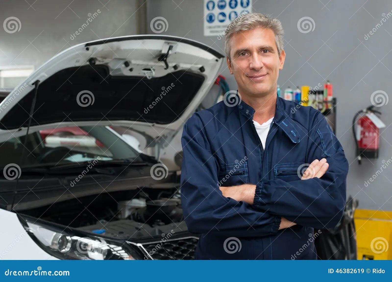 Proud Auto Mechanic Stock Photo  Image 46382619