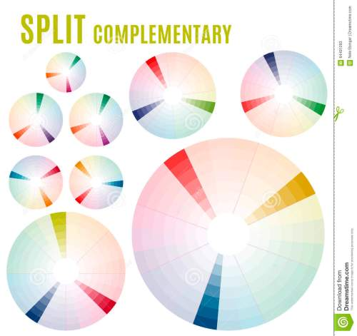 small resolution of the psychology of colors diagram wheel basic colors meaning split complementary set part