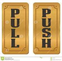 Pull And Push Door Signs Stock Image
