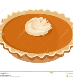 pumpkin pie vector illustration  [ 1300 x 1095 Pixel ]