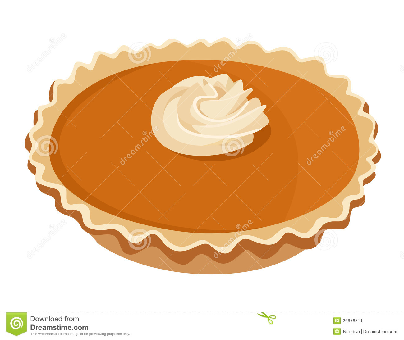 hight resolution of pumpkin pie vector illustration