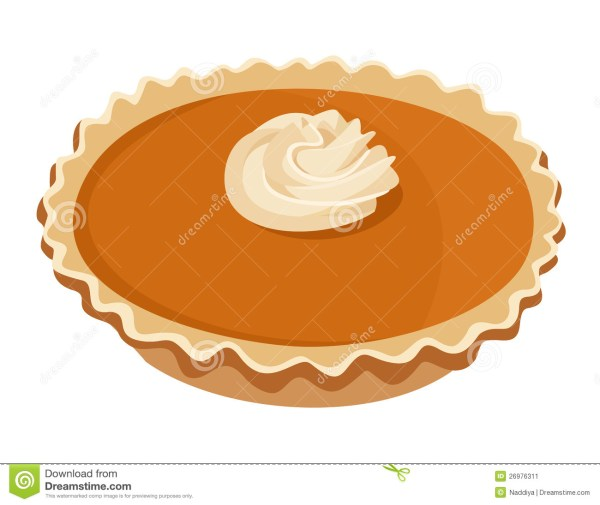 pumpkin pie. vector illustration