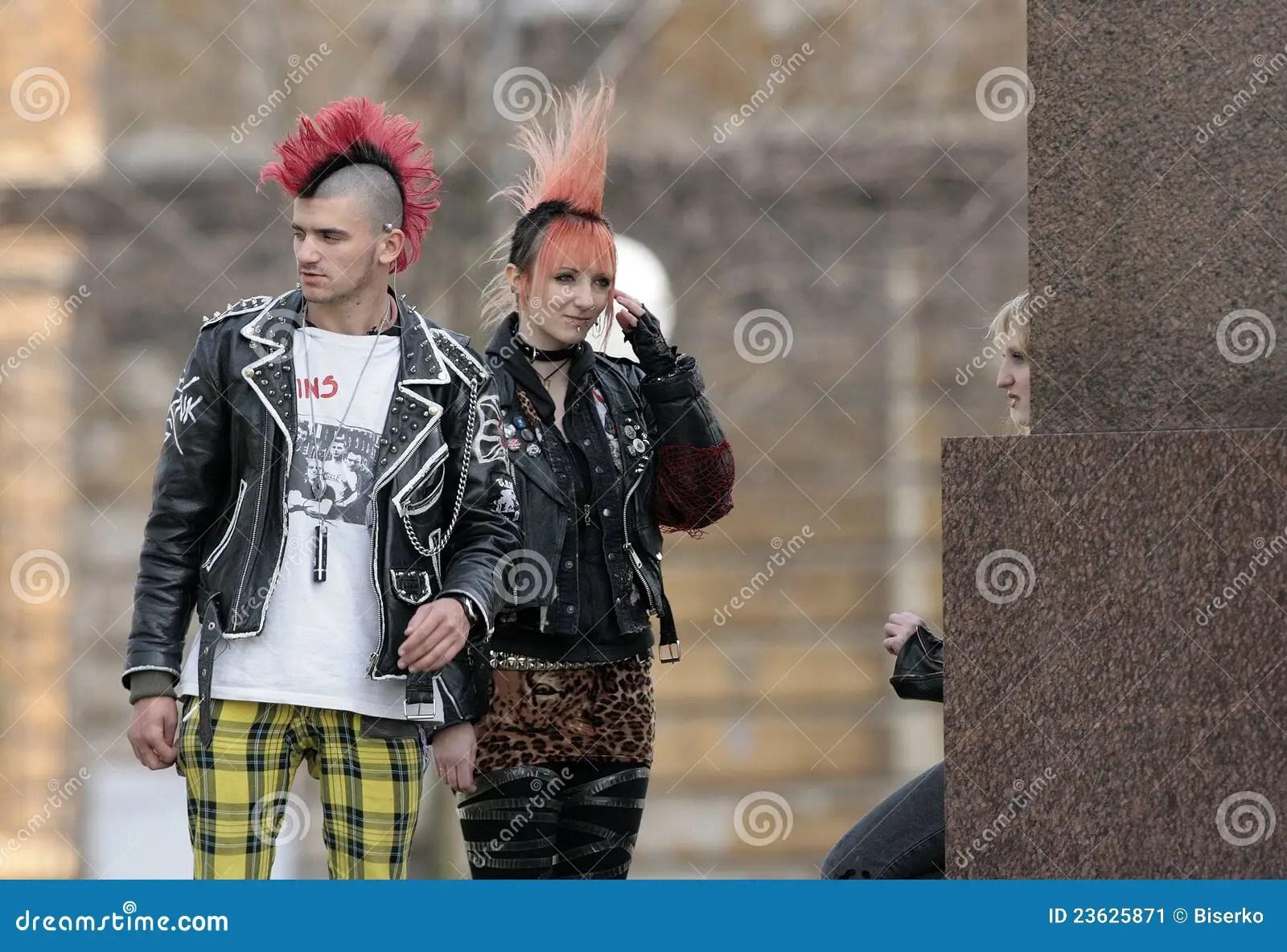 Punk fashion editorial photo Image of metal irokese