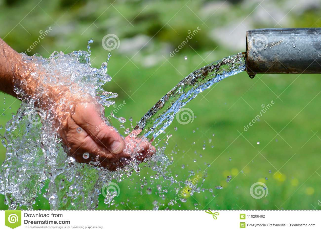 Drinkable Fresh And Clean Water Sources Stock Photo
