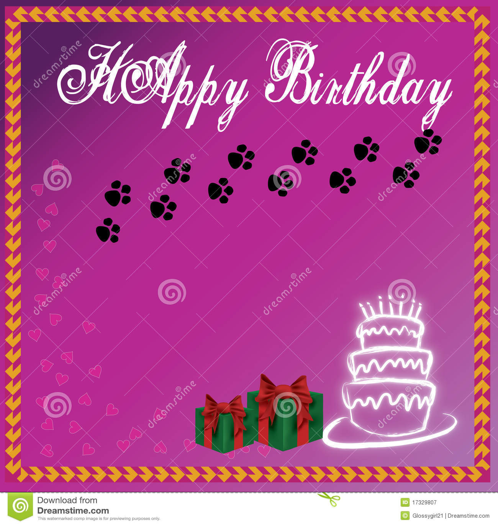 Purple Background Birthday Cake And Wedding Cake Royalty