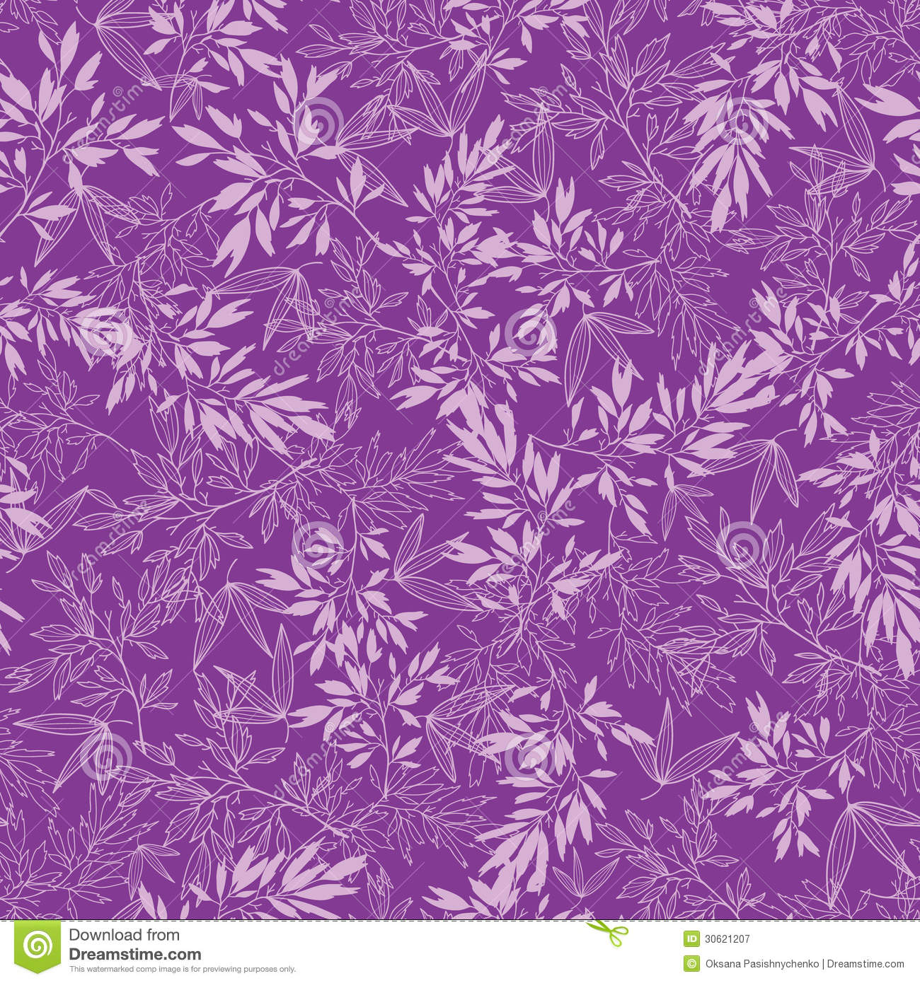Fall Leaf Pattern Wallpaper Purple Branches Seamless Pattern Background Royalty Free