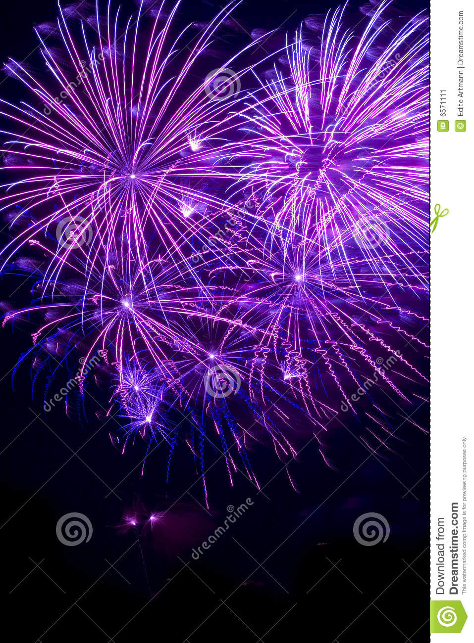 Purple Fireworks Stock Image Image Of Forth Fire Labor