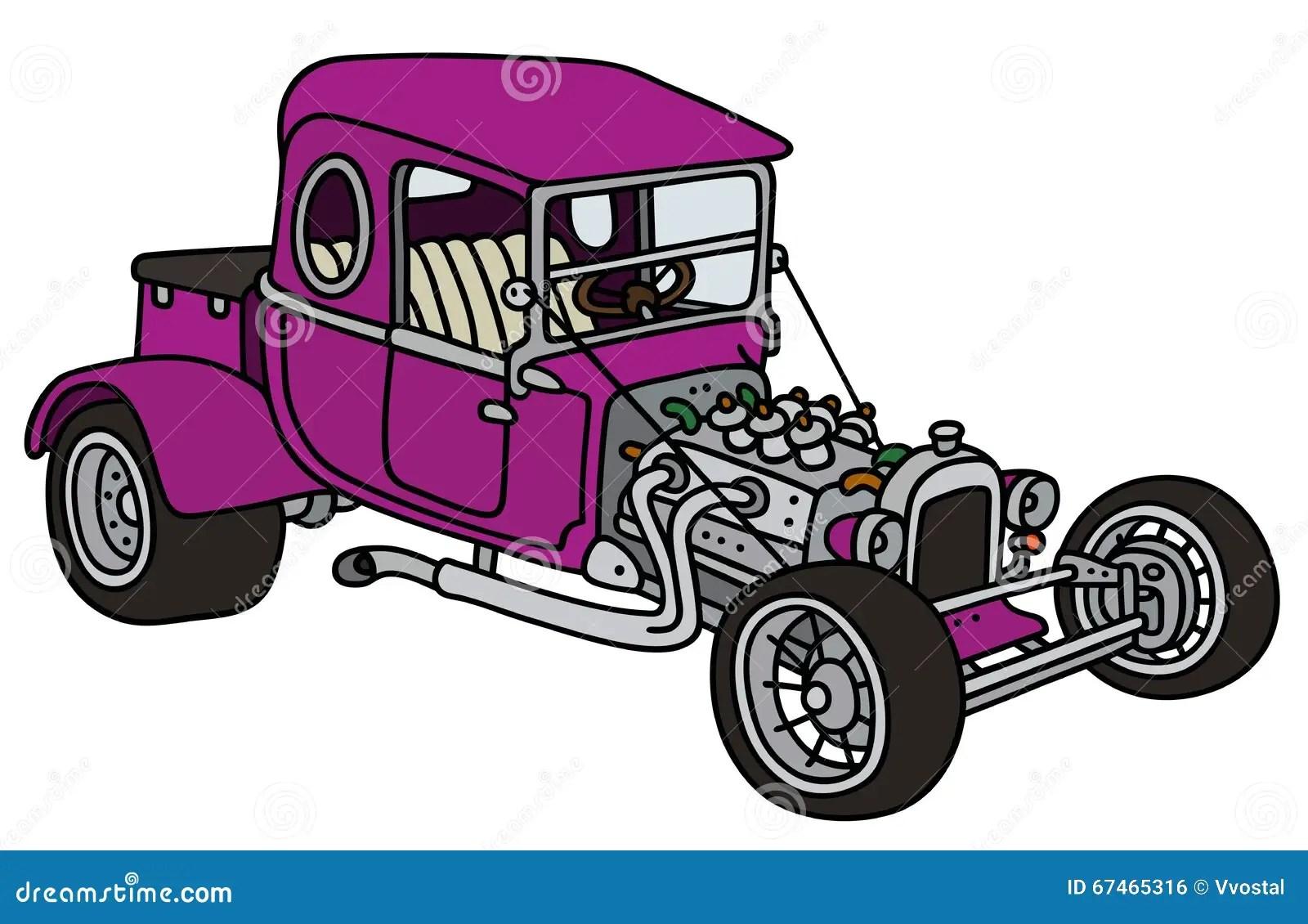 hight resolution of purple hot rod