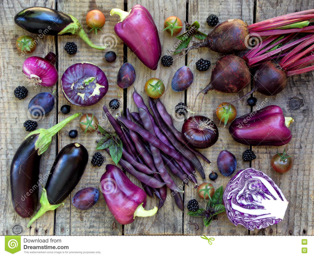 Green And Or Vegetable Purple Fruit